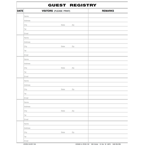 Economy Guest Register