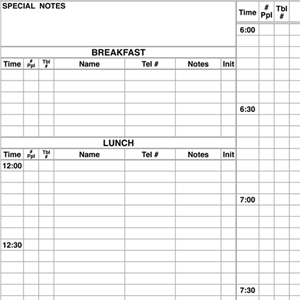 Premium Table Reservation Book