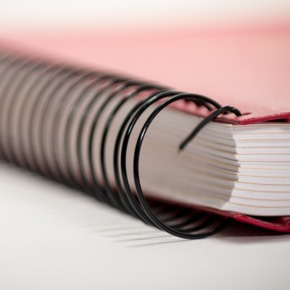 Red Book with Ring Binding
