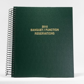 Green Banquet and Function Reservation Book Cover